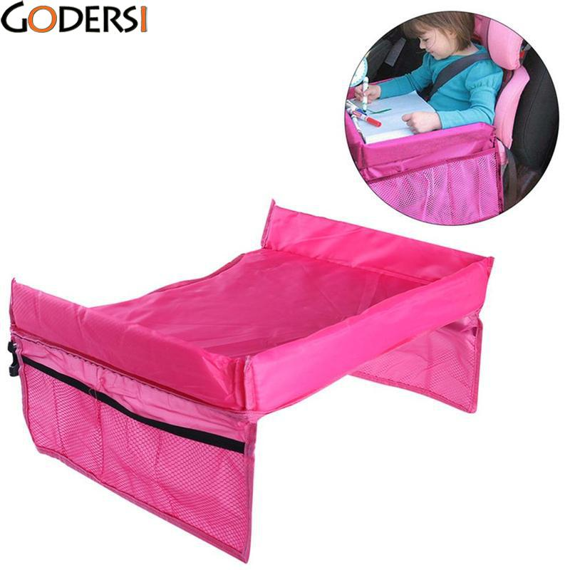 Godersi 2 Colors Cute Waterproof table Car Seat Tray Storage Kids Toys Infant Stroller Holder for Children PQJ6351