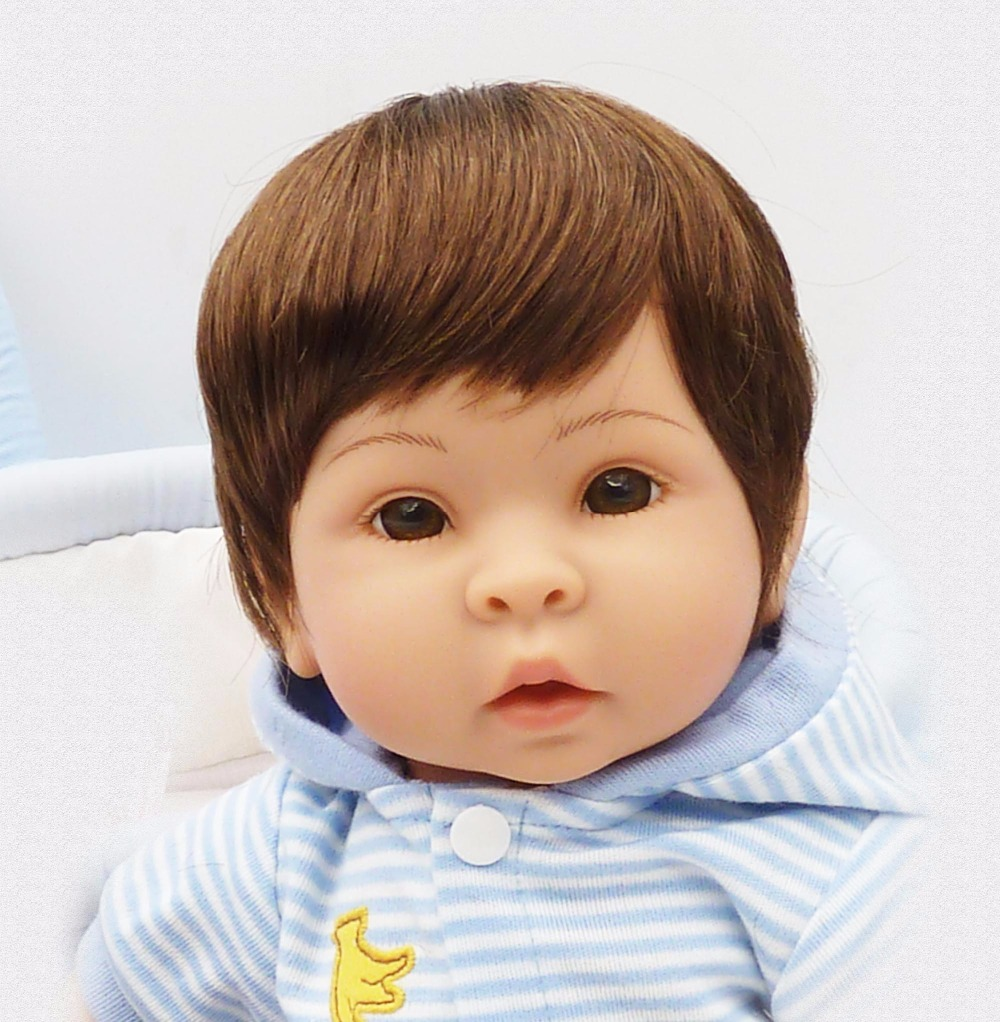 with sleeping bag Little Doll 41cm Silicone Reborn Boneca soft alive Baby Dolls For girls toy Birthday Gift Bebes Reborn Dolls
