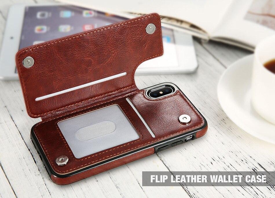 HTB1LpoILrrpK1RjSZTEq6AWAVXa6 Retro PU Leather Case For iPhone 11 Pro X Xr XS max 6 Card Slot Cover For Samsung S10E S8 S9 S10 Plus S7 Edge Note 8 9 Back Capa