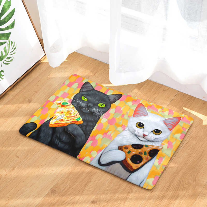 Мультяшный Кот животные Печатный Туалет Впитывающий Коврик для душа Ванная комната коврик наружные коврики коврик коврики для кухни 40X60 50x80 см