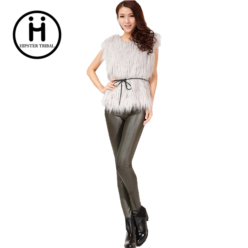 2016 léopard en cuir forme corps pantalon Femmes Legging Pantalon Imprimer  sexy adventure time thermo chaud 6a8e93814121