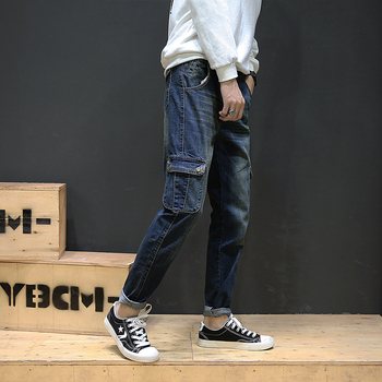 jeans men Fall 2017 to continue on Japanese tent for bag more elastic foot jeans F01 28-46 P70