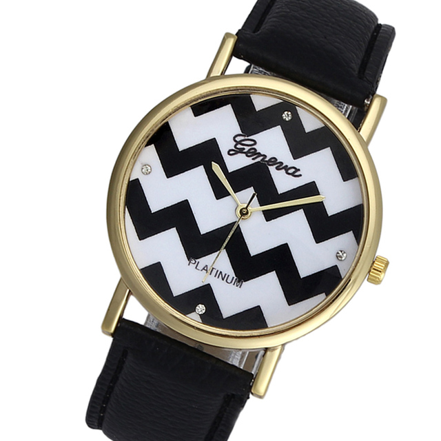 Montres Femme Women Watches Geneva Watch Faux Leather Quartz Analog Wrist Watch Ladies Bracelet Watch relogio feminino Gifts Ff