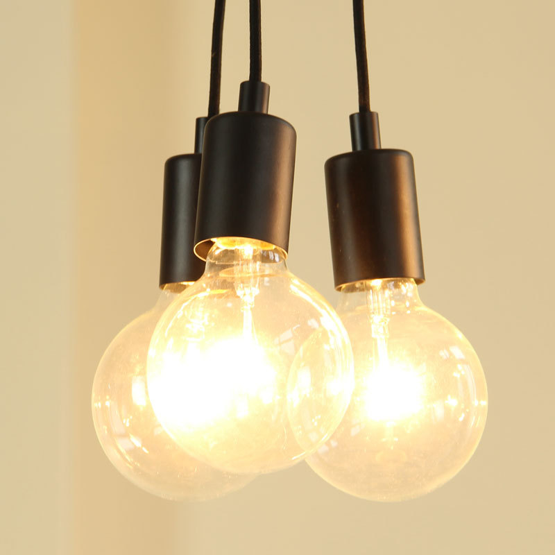Delightful Simple Vintage Pendant Light Fixtures With 3 Edison Bulbs Indoor Light  Fixtures Decoration 110V 220V