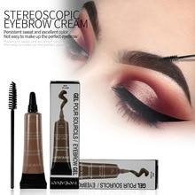 HANDAIYAN Eyebrow Gel Tint 6 Colors Makeup Pomade Brush Kit Brown Henna Eye Brow Cream Make Up Paint Set Enhancer Wax Cosmetic