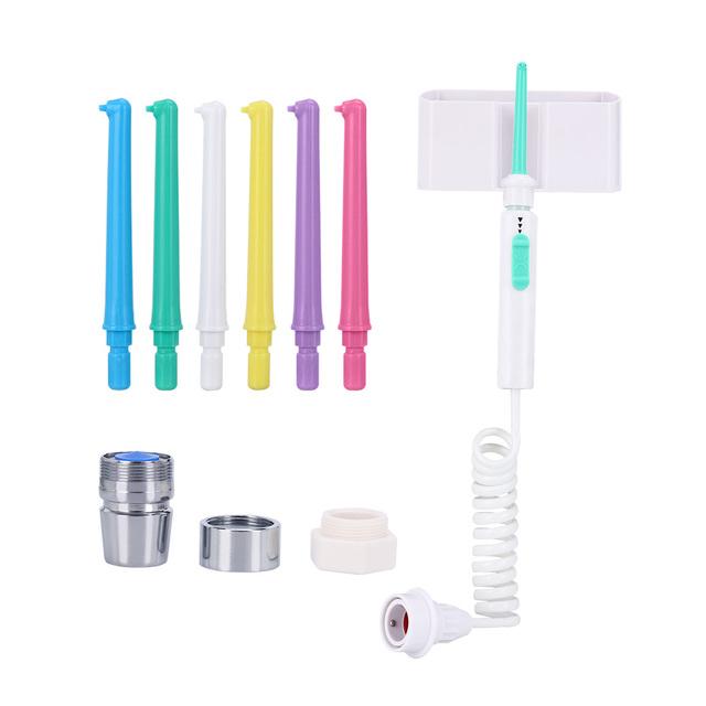 6Nozzle Faucet Oral Irrigator Water Dental Flosser Portable Irrigador Dental Water Jet Toothbrush Oral Irrigation Teeth Cleaning