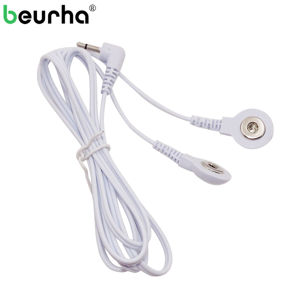 1 Pc Durable Ersatz Elektrode Pads Zehn Einheit Blei Drähte Kabel Für Zehn Ems Standard 5mm Verbindung Massage Werkzeuge 2-weg