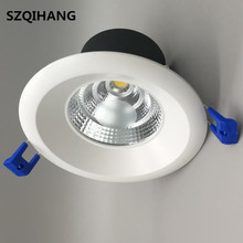 AC110V220V 9W 15W 20W Dimmable Spot Light Decoration Ceiling Down Lamp lighting Super Bright Recessed LED Downlights Warm White