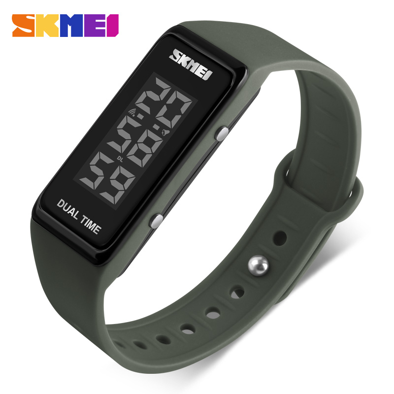 SKMEI Brand Sports Watches Men LED Electronic Digital Wristwatches Waterproof Outdoor Sport Bracelet Watch