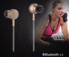 New Stereo Ear Buds Wireless MP3 Player Earphones Earpieces Metal IN-Ear Earphone HI-FI Stereo Surround Bass with Microphone