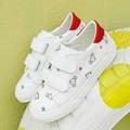 Детская обувь для девочки Искусственная кожа детская обувь мальчики Животных печать 2017 новая весна девушки тапки белые туфли кроссовки