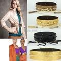Европа и соединенные Штаты женщина украшением оби Змея кожаная куртка золотой черный кисточка пояса ремень взлетно-посадочная полоса выглядит T поле
