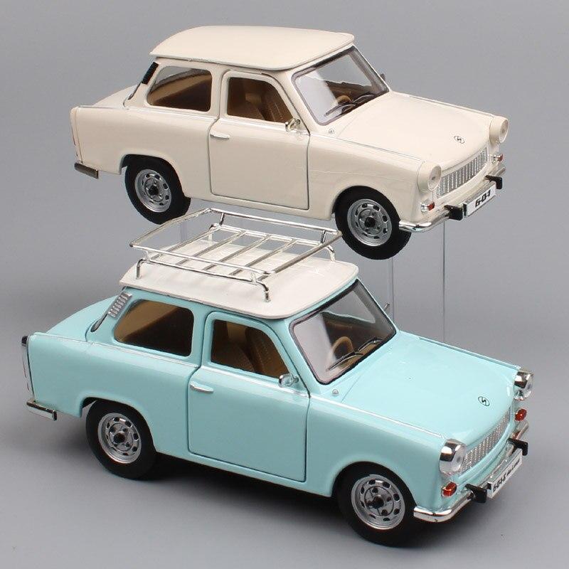 1:24 Scale Brands Germany Vintage The Trabant 601 P601 S 1988 Sedan VEB Sachsenring Trabi Metal Die Cast Minicar Model Cars Toys