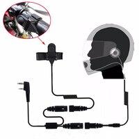 Baofeng-auriculares PTT de 2 pines para casco de motocicleta, auricular para Radio de dos vías, accesorios de Walkie Talkie UV-5R 82 UV-5RA Plus BF-888S