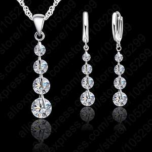 JEXXI Crystal Pendant Jewelry Set For Women Wedding