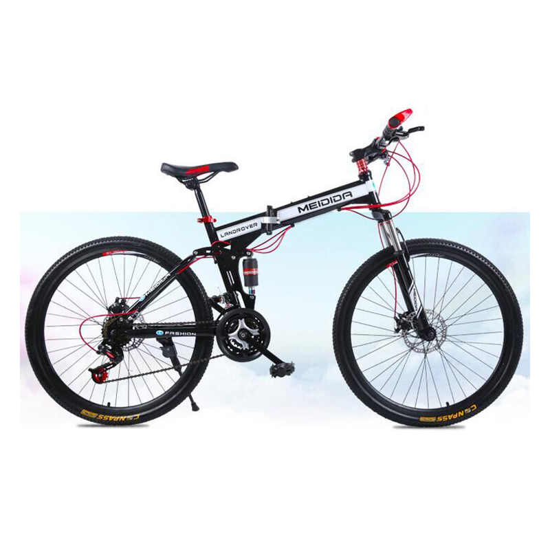 f9eeed86397 High carbon steel material 26 inch double disc brake bicycle folding bicycle  men and women adult