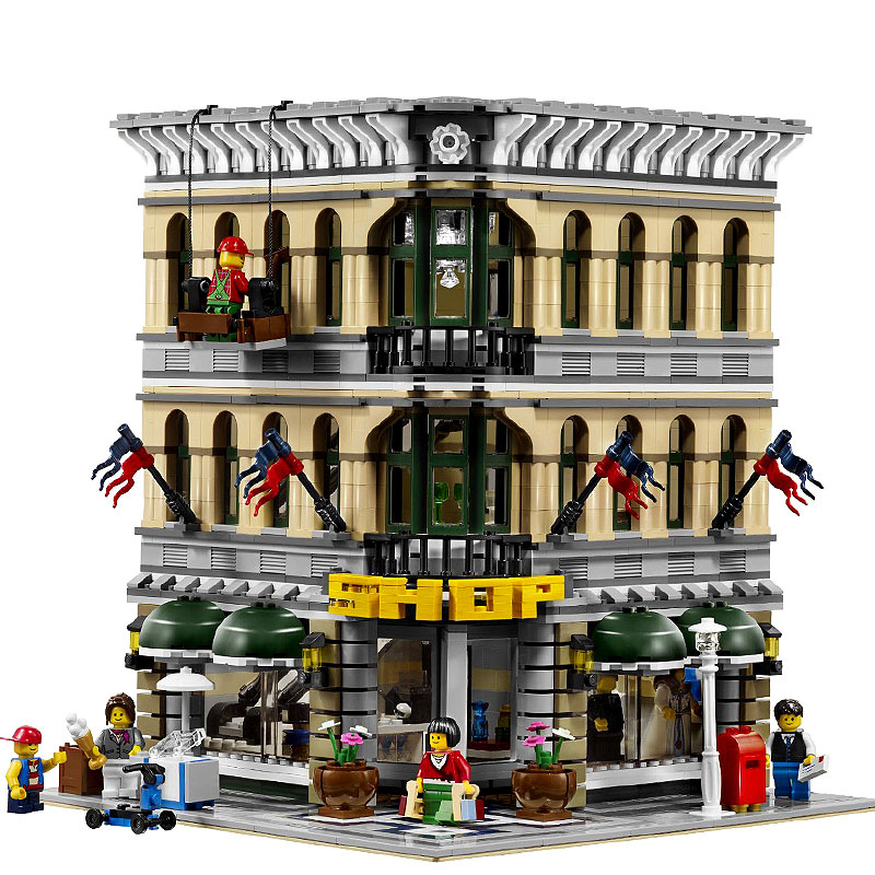 2232pcs Lepin Diy City Grand Emporium Model Building Blocks Kits Brick Compatible with legoingly 10211 Toy for children dhl lepin 15012 2518 pcs city expert ferris wheel model building kits blocks bricks toys compatible with legoingly 10247