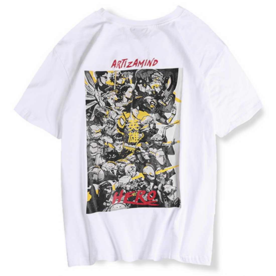 Aelfric Eden Japanse Stijl Gedrukt Casual Mens T-shirts 2019 Zomer Mode Harajuku Streetwear Hip Hop Katoenen Tops T-shirts