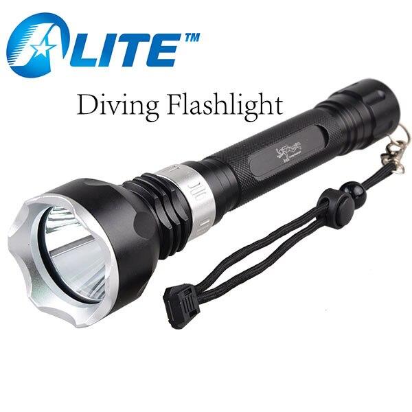 [FREE SHIP] waterproof  XM-L T6 Diving Torch XM-L2 Underwater light 18650 scuba lanterna de led 100m diving flashlight