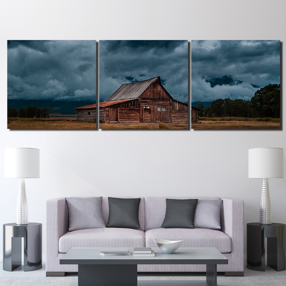 3 Teile/satz Gerahmte HD Gedruckt Dunkle Gewitterwolken Bild ...