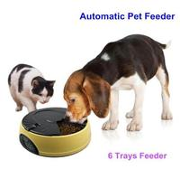 Ortilerri 6 Meal Smart Automatic Pet Feeder LCD display dog cat food dispenser timed recorder bowl food reminder cat feeder