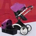 Novo Design de Luxo Carrinho De Bebê 2 em 1,12 Cores Quatro Rodas único Assento pode Sentar e Deitar para Crianças Bebê Recém-nascido infantil