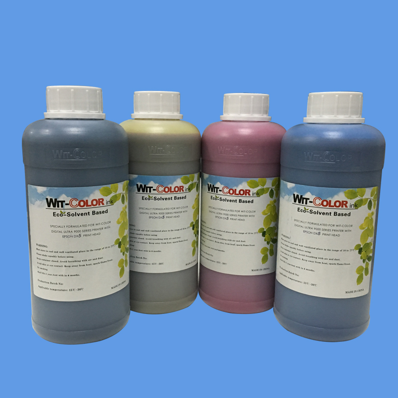 CMYK 4 Bottle Lot Wit Color Dx5 Eco Solvent Ink For Ultra 9100 9000 9200 Printer Dx7 In Parts From Computer Office