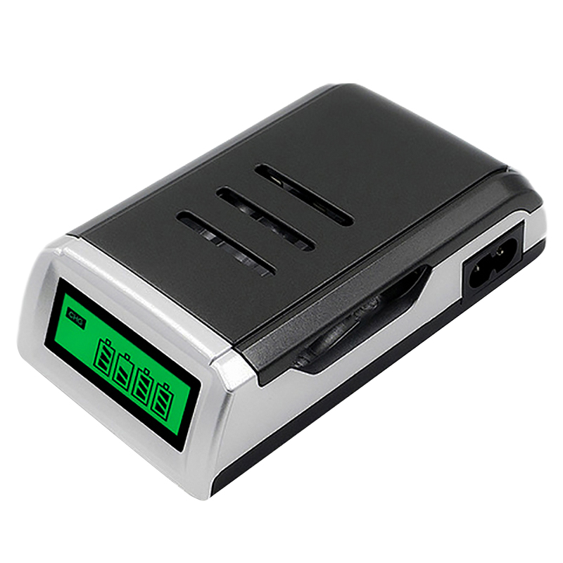 Charger Universal 4 Slots Lcd Display Smart Intelligent Battery Charger for Aa / Aaa Nicd Nimh Rechargeable Battery (Us Plug)