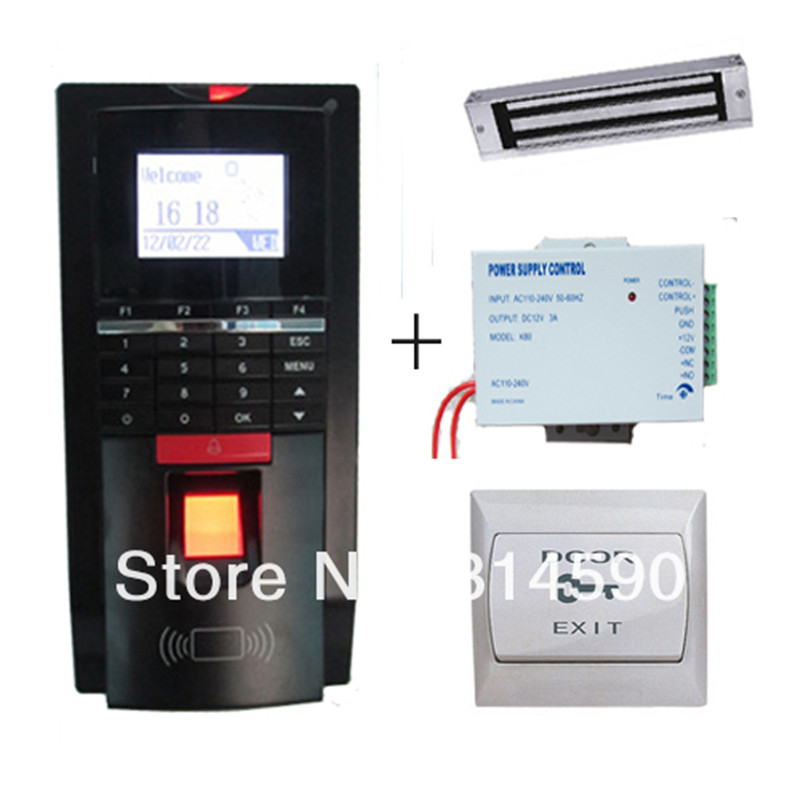 Fingerprint Access Control Kit with Realand Access Control Terminal ZD2F20 Power Supply  Magnetic Lock  PC Exit Button access control kit fingerprint access control kit magnetic lock - title=