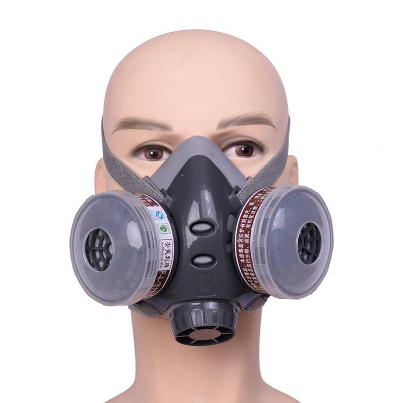 Respirator Gas mask Protective Mask Activated Carbon Anti Dust Anti Organic Gases and Vapors Filter Cartridge Face Shield MZ001