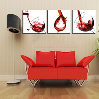 Oil Painting Frameless Home Decoration Modular Canvas Print Modern Wall Art Picture Red Wine Abstact Poster