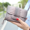 High quality Alligator Patent leather women clutch coin purse lady hasp change purse handbags Card holder Female zero wallet