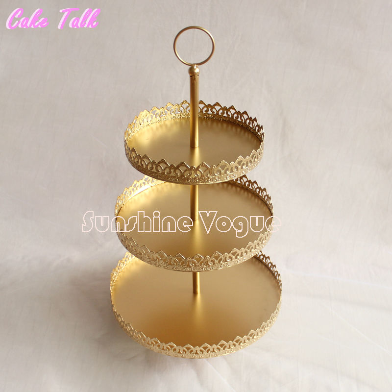 3 tiers gold cupcake stand display plate for wedding decoration 3 tiers gold cupcake stand display plate for wedding decorationdinnerparty baking tool wedding 2 tiers in stands from home garden on aliexpress junglespirit Images