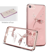 Rhinestone Case Cover For Apple iPhone 7 7 Plus Anti-scratch Protectiove Case with Crystals from Swarovski
