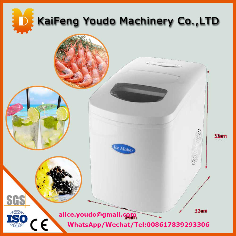 UDZB-10 small home use ice maker /mini ice making machine 1pc15kgs 24h 220v small commercial automatic ice maker household ice cube make machine for home use bar coffee shop