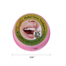 10g/25g Toothpaste Natural Coconut Herb Clove Mint Flavor Tooth Whitening Tooth Paste Kit Dentifrice Remove Stain Teeth Cleaning