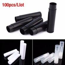 100Pcs 5Ml Diy Lege Fles Lippenstift Lipgloss Tube Lippenbalsem Buis Container Potten Lippenbalsem Lipgloss Buis met Cap Reizen Make Up Tool