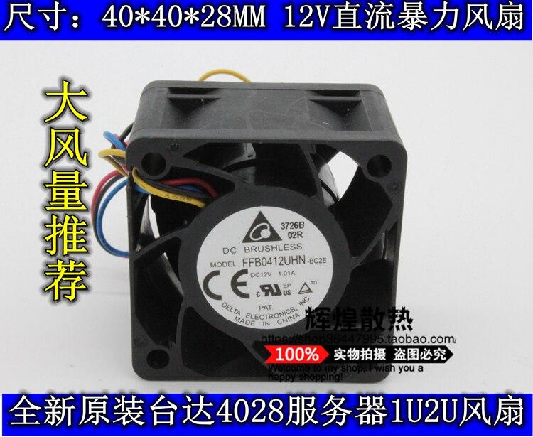 brand new DELTA FFB0412UHN 4028 12V 4CM high air volume Server cooling fan