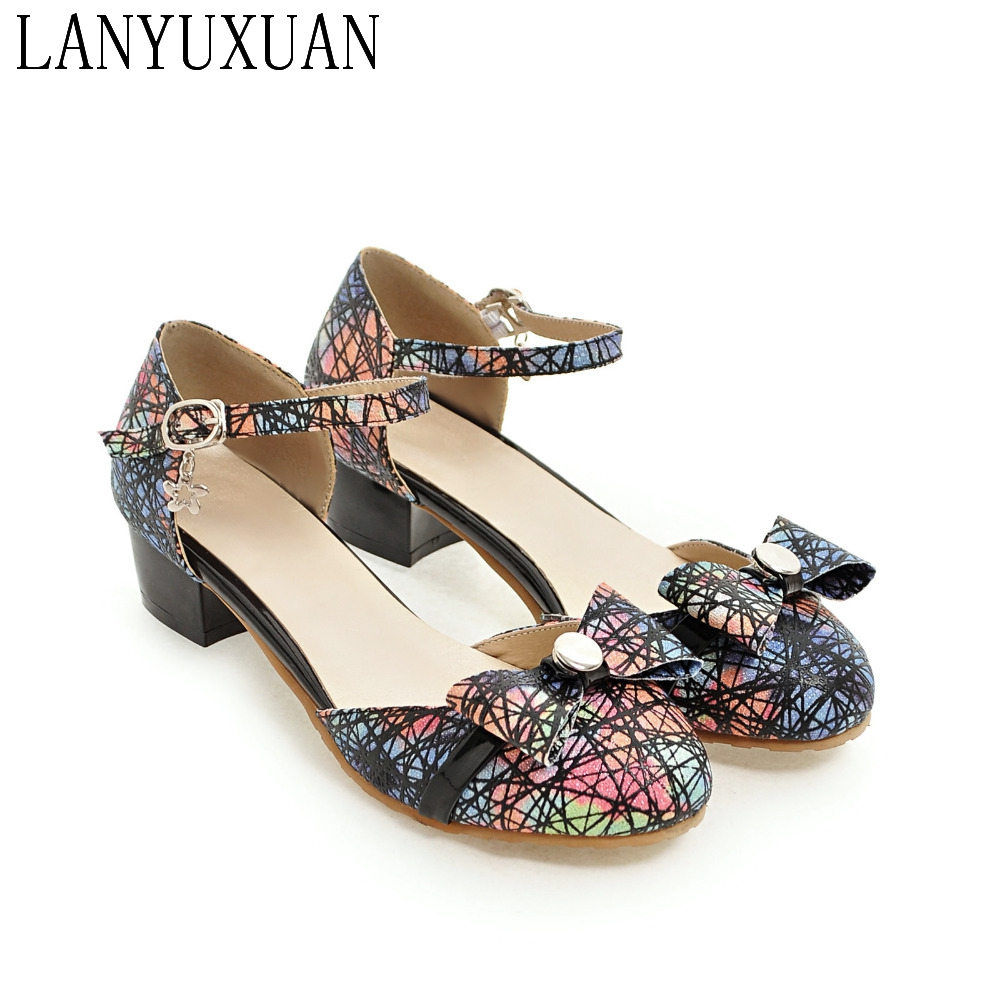 LANYUXUAN Big And Small Plus Size 28-52 Ladies Mujer Shoes Woman Sandals High Heels Sapato Feminino Summer Chaussure Femme 560 lanyuxuan sweet new big size 31 50 sandals ladies shoes woman zapatos mujer women chaussure femme pumps party wedding shoes t338
