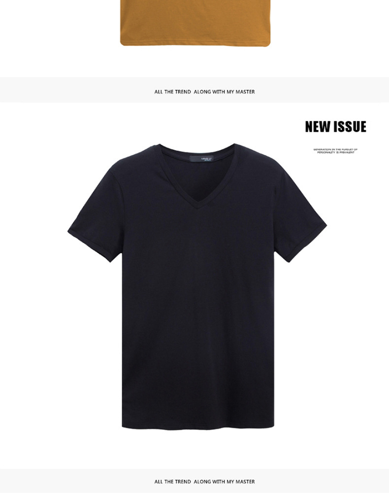 2020 Brand New Men T Shirt Tops V neck Short Sleeve Tees Men's Fashion Fitness Hot T-shirt For Male Free Shipping Size 5XL
