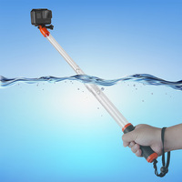 TELESIN Transparent Handheld Divng Waterproof Selfie Stick Floating Monopod Pole For GoPro Hero 6 5 4
