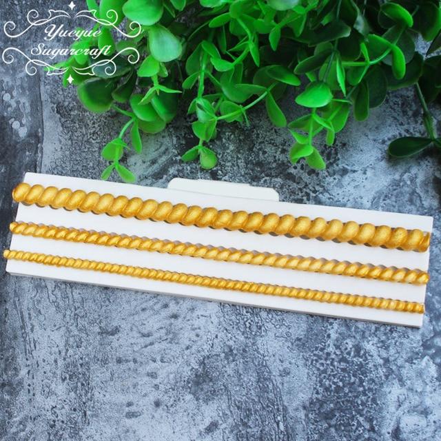 Yueyue Sugarcraft 1 pezzo bead bordo stampo in silicone fondente strumenti muffa