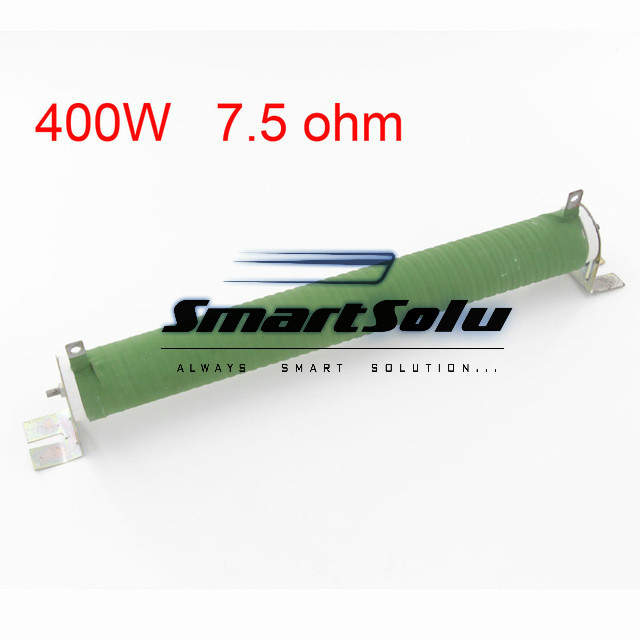 Good Quality Customized Green Fixed Type Pipe Resistance 400W 7.5 ohm Ceramic Tube Resistor high quality customized 150 ohm 500w watt power aluminum metal shell case gold resistor