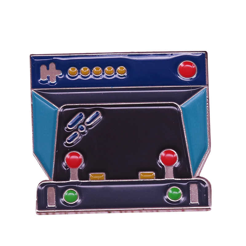 Game Controller Broche Vroege 90S Retro Video Game Pin Geeky Gamer Badge Nostalgie Entertainment Sieraden Grappige Nerdy Collection