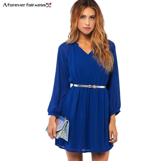 Women Dress Long Sleeve Waist Elastic