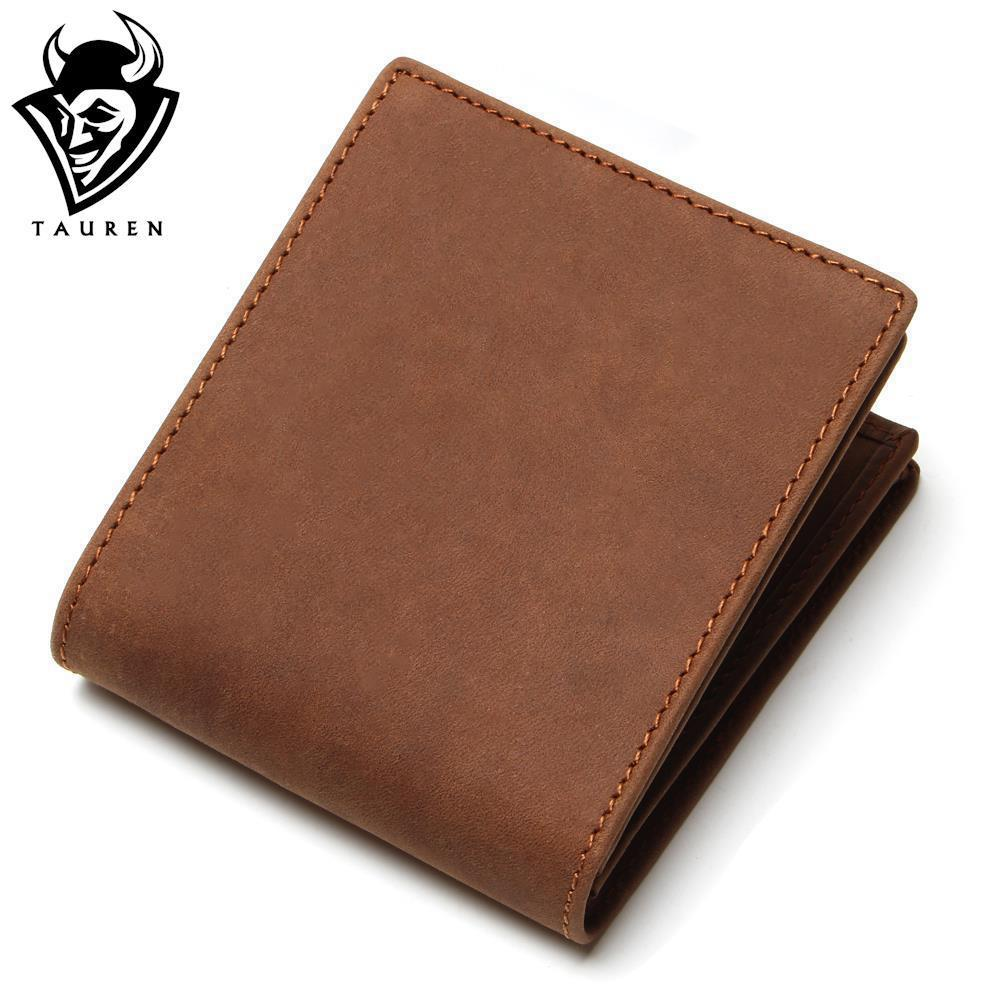 Crazy Horse Leather Men Wallets 2018 New Arrival Man Brand Design Purse Card Vintage Wallet Holder Short Fold  Genuine Small Bag brand double zipper genuine leather men wallets with phone bag vintage long clutch male purses large capacity new men s wallets