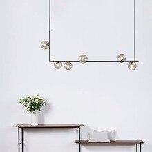цена Modern Restaurant Led Chandelier Clear Glass Lampshade Kitchen Bar Office Table Hanglamp Nordic Loft Deco Hanging Light Fixtures онлайн в 2017 году