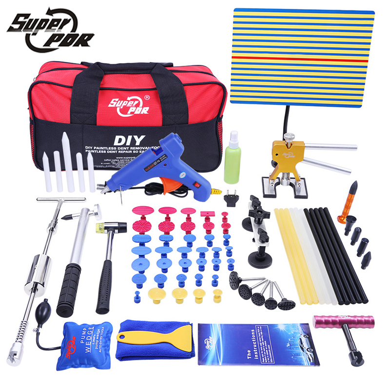 PDR Tools Set Paintless Dent Repair Car Dent Removal Hand Tool Set PDR Reflector Board dent