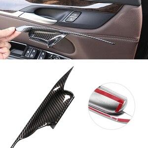 Image 3 - Puxador para maçaneta de porta em abs, 4 unidades, estilo de carro, abs, fibra de carbono, tigela, guarnição para bmw x5 f15 x6 f16 2014 2015 2016 2017 2018