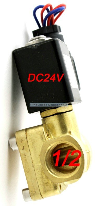 High Quality 1/2 230 PSI Electric Solenoid Valve 24-VDC Normally closed Diaphragm Valve 0927200High Quality 1/2 230 PSI Electric Solenoid Valve 24-VDC Normally closed Diaphragm Valve 0927200
